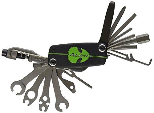 TOPEAK Alien 3 Multi Tool Werkzeug Faltwerkzeug Klapp Fahrrad Innensechskant 26 Fkt. + Tasche, 15400110