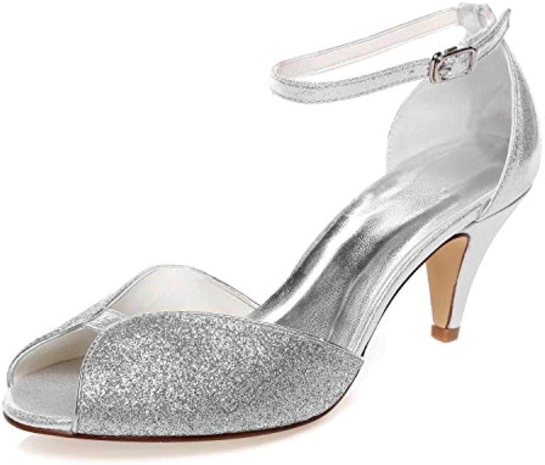 JIA de JIA Chaussures de JIA Mariée Pour Femme 5949422 Peep Toe Cône Talon Scintillant Scintillant Pompes Chaussures...B078YB2P1ZParent 462429