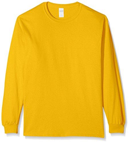Gildan Ultra Cotton L/Sleeve Tee, Maglietta Uomo Gold