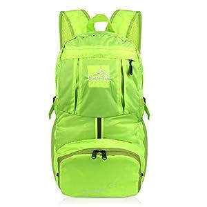 40L Ultraleicht Faltbare Rucksack, Wasserdichter Wanderrucksäcke Multipurpose Reiserucksack Daypack für Wandern Biken Trekking Klettern Bergsteiger Camping Schule Freizeit