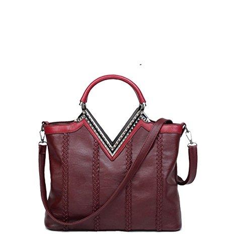 Yy.f New Trend Woven Handbags Borsa A Tracolla Portatile Diagonale Per Il Tempo Libero 3 Colori Rosso