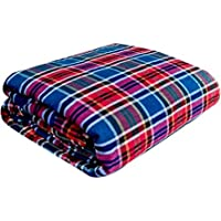 Exotic Home Cotton Double/King Size Bed Mattress Cover with Zip (Multicolour, 72x72x4 inches)