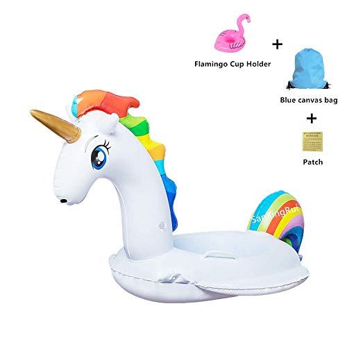 Aufblasbares Einhorn Luftmatratze, Aufblasbarer Schwimmring Kinderboot Sommer Strand Spielzeug die Haut des Kindes Nicht Verletzen Geeignet für 2-6 Jähriges Baby (Aufblasbares Einhorn Kinder) -
