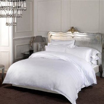 Dorchester 1000 Thread Count 100% Cotton White Duvet cover Hotel quality, Double King SuperKing produced by S Green & Sons - quick delivery from UK.