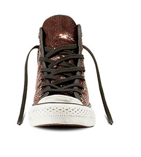 ... CONVERSE 559039C copper black rame scarpe sneakers alte lacci pailettes  Metalizzato