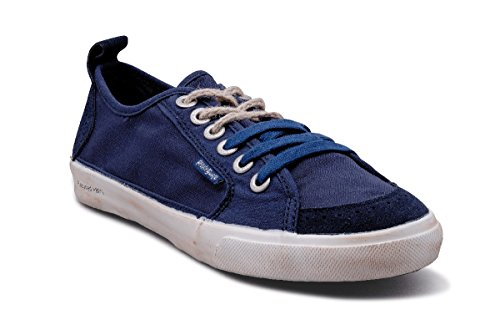People swalk - Fly suede polycanvas Bleu Bleu