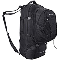 Mountain Warehouse Traveller 60 + 20L Rucksack - Detachable Daypack, Durable Daysack, Multiple Pockets Backpack With Rain Cover - For Travelling, Hiking & Camping