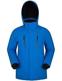 Mountain Warehouse Galaxy Chaqueta del Esqu - Costuras grabadas, Chaqueta Impermeable de Mens, Capa de Breathable Mens, Falda Desmontable de la Nieve Cobalto S