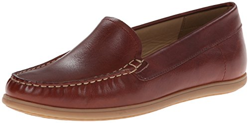 Ecco Womens Siena Moc Flat Rouge (Picante)