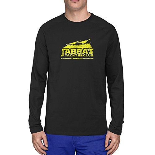 Planet Nerd - Jabba's Yacht Club Chowbasa - Herren Langarm T-Shirt Schwarz