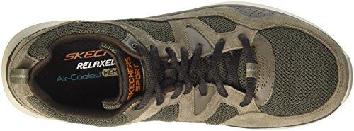 Skechers Herren Quantum-Flex-Country Walker Sneaker Braun (Brown)