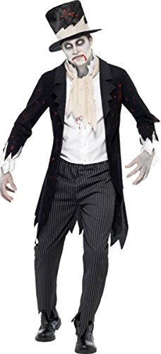 Fancy Party till death do us part Halloween Zombie Groom Kostüm komplett Kleid Gr. M, multi