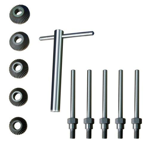 Ventilsitzfräser-Satz / 45° + 90° Ventilfäser inkl. T-Griff für Zylinderköpfe, 11-tlg. (32.5-42.5 mm) (Werkzeug zur Motorinstandsetzung) -