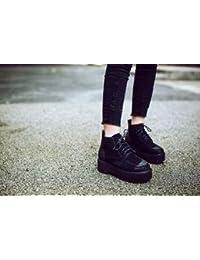 &ZHOU Botas otoño y del invierno botas cortas mujeres adultas 'Martín Caballero Botas botas a-0 , black , 39