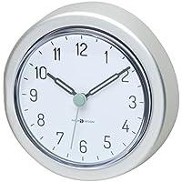 mDesign Reloj de baño con ventosa – Reloj de pared de aluminio y resistente al agua – El accesorio para el baño perfecto – Colocación sencilla en la pared de la ducha o en los azulejos
