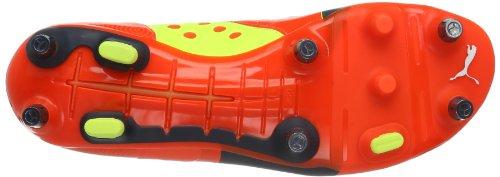 Puma Herren evoPOWER 2 Mixed SG, Chaussures de football homme Rouge - Rot (fluro peach-ombre blue-fluro yellow 01)
