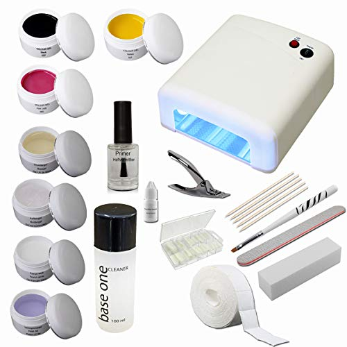 Sun garden nails Kit de introducción Starterset Nail con geles de Colores -...