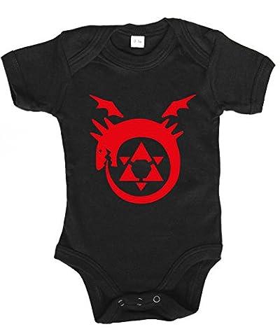 -- Ouroboros -- Babybody Schwarz, Größe 6/12 Monate