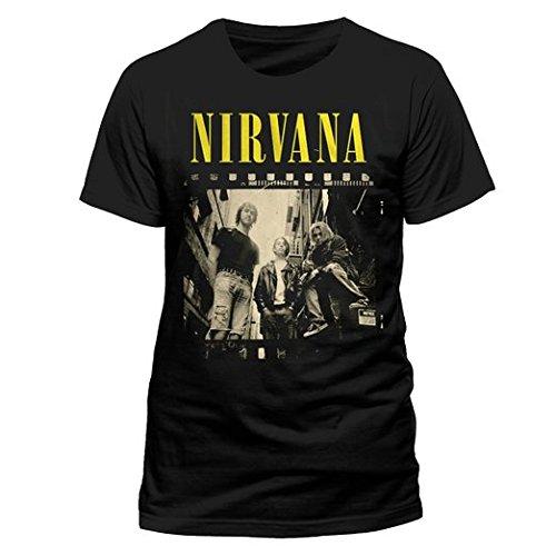 Nirvana Photo, Camiseta para Hombre, Negro, Medium