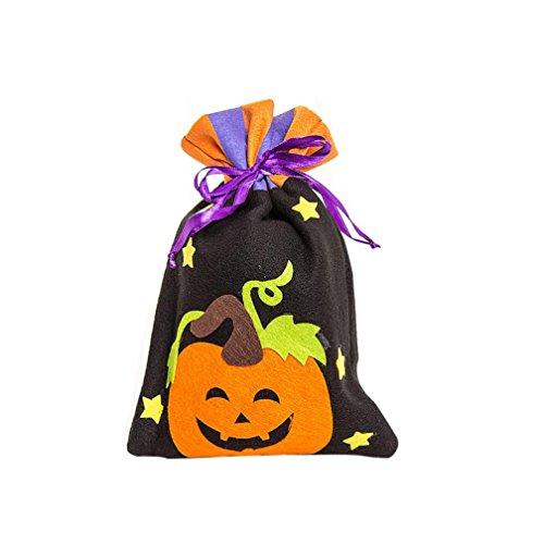 Tunnelzug Süßigkeiten Tasche, HARRYSTORE Nette Halloween Hexe Süßigkeit Tasche Bunte Verpackung für Kinder Partei Speicher Beutel Geschenk (Mehrfarbig (Für Für Ideen Kostüme Lehrer Halloween)