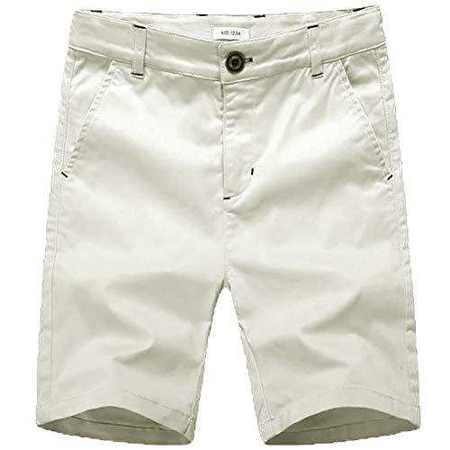 Jungen Shorts mit Verstellbarer Taille - Chino Shorts für Jungen 4-12 Jahre, 6 Farben zur Auswahl (kahki 120) 7 China