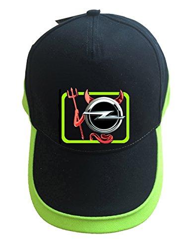 Opel Devil Teufel Auto Logo Unisex Baseball Cap Mütze -c19 (sw-grün)