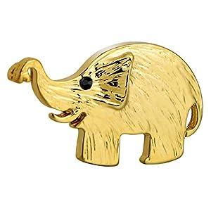 Aienid 3×1.8 cm Edelstahl Brosche zum Damen Elefant Gold