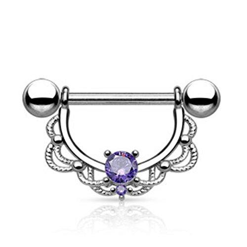 wildklass-jewelry-adult-tribal-pattern-ing-a-imitation-plug-14-ga-length-16mm-ball-5mm-tanzanite