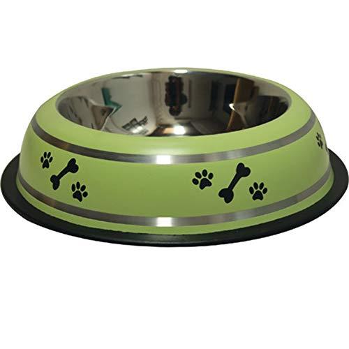 Suinga Mangeoire Chiens avec support de sol en acier inoxydable. Capacité 1.75 L x 2. Se recours comme mangeoire et abreuvoir pour animaux. Mesures. Ø21 cm. 44 x 23 x 8 cm