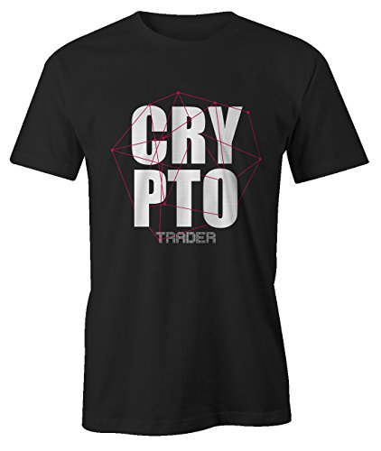 RiotBunny Crypto Trader Miner Bitcoin Cryptocurrency BTC Ltc Digital Currency T-Shirt Camiseta Hombres Negro Large