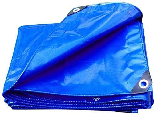 F2 wasserdichte Plane Outdoor Truck Markisenzelt Verdickung Regenfestes Tuch Anti-Aging Blau 450 g m² im Quadrat 17 Größen (Farbe: Blau Größe: 5 x 3 m)