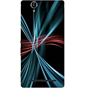 Casotec Colors Lines Design Hard Back Case Cover for Sony Xperia T2 Ultra