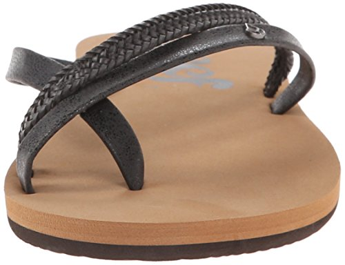 Reef O'Contrare Lx, Tongs Femme Noir (Black)