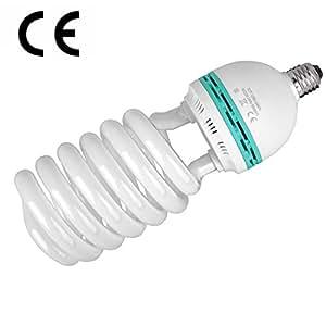 125W (625W Eq) 5500K CRI>90 E27 Studio Daylight Spiral Bulb Lamp Photography,suitable for Continuous Daylight lighting ki