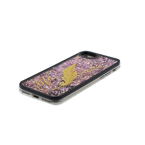 "Hülle iPhone 6, [ Liquid Fließendes Glitzer Bling Bling Floating sparkles] iPhone 6S Handyhülle Cover (4.7 zoll), iPhone 6 Case Shell (4.7"") Anti-Beulen & Touchstift - (Make-up Elegant) Schwarz 4"