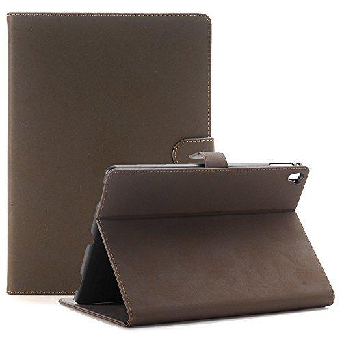 iPad Pro 9,7 Zoll Hülle, TechCode® Luxus PU Leder Case Smart Cover im Bookstyle Schutztasche aus PU Leder mit Standfunktion und Fach für Kreditkarten für Apple iPad Pro 9,7 Zoll