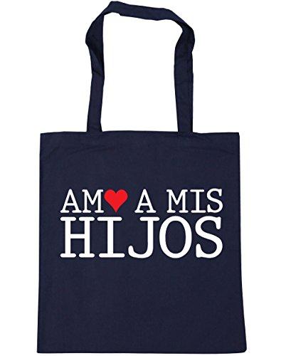 HippoWarehouse Amo A Mis Hijos Bolso de Playa Bolsa Compra Con Asas para gimnasio 42cm x 38cm 10 litros capacidad