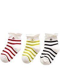 56958fb5be991 Topsaire Chaussettes Bébé 3 Paires chaussettes bebe Fille 0-6 mois Enfant  Chaussettes Naissance en Coton Chaud…