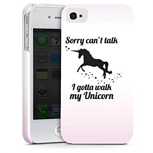 Apple iPhone X Silikon Hülle Case Schutzhülle Einhorn Unicorn Sprüche Premium Case glänzend