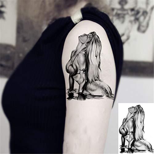 WSFST Wasserdichter Tattoo-Aufkleber Wasserdichte Männer Und Frauen Tattoo Applique Arm Simulation Tattoo Aufkleber 10 Tattoo-Sets