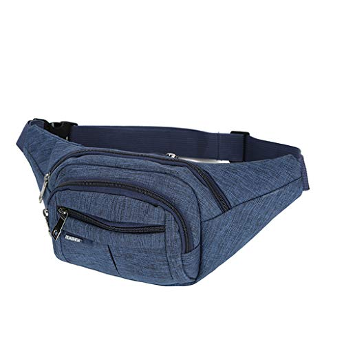 LMRYJQ Tasche Damen Umhängetasche Schultertasche Unisex Outdoor Durable Funktionelle Reine Farbe Strandatasche Brust Handytaschen Blau -