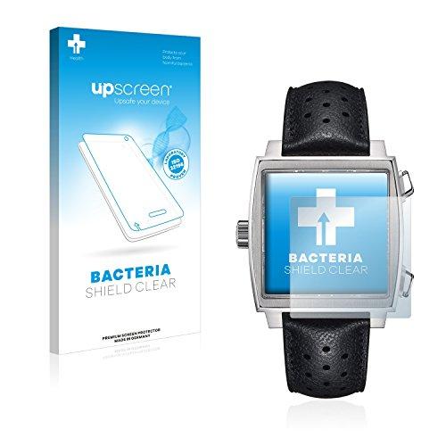 upscreen Health Antibakterielle Schutzfolie kompatibel mit Tag Heuer Monaco (39 mm) klare Displayschutz-Folie -