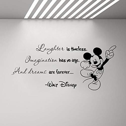 Wandaufkleber Kinderzimmer Mickey Minnie Mouse Wandkunst Aufkleber Aufkleber ermutigende Worte Wandtattoo Minnie Mickey Mouse Zitat Vinyl Aufkleber Home Boy Girl Room Poster - Wandtattoos Boy Disney