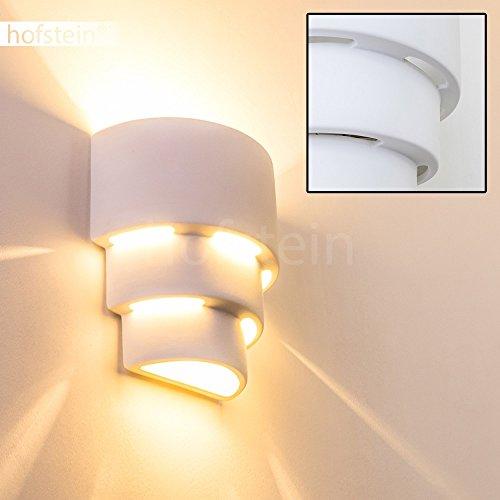 Applique lampada da parete design scalato in gesso bianco ...