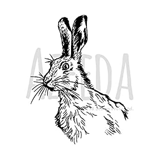 A7 'Alert Hare' Unmounted Rubber Stamp (SP00006315)