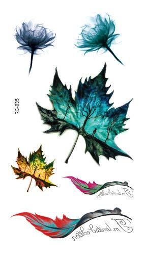 HXMAN 5pcs Eco-friendly Wasserdichte Tattoo Aufkleber Original Farbe Kleine Frische Schönheit Persönlichkeit Tattoo Aufkleber Custom Großhandel Tattoo (Großhandel Kostüme Club)