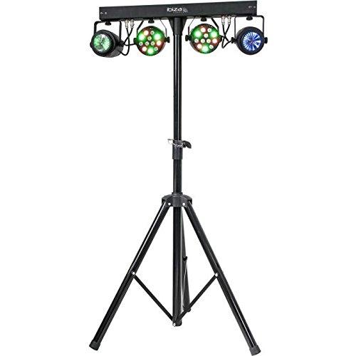 Ibiza Light & Sound DJLIGHT60 Lichtanlage Set mit LED Scheinwerfer/Lichteffekte/Stativ