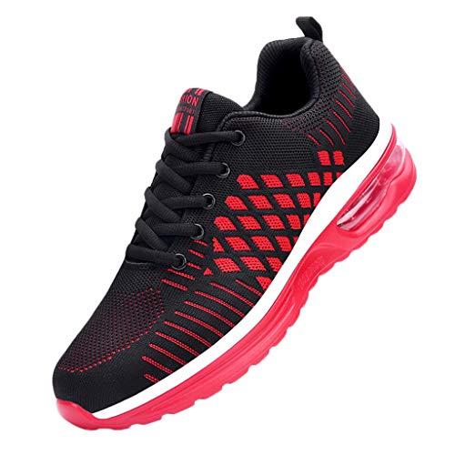 Sanahy Sportschuhe Damen Air Turnschuhe Herren Luftkissen Dämpfung rutschfest Laufschuhe Outdoor Leichte Atmungsaktiv Sneaker