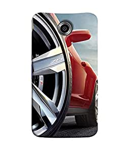 Motorola Nexus 6, Motorola Nexus X, Motorola Moto X Pro, Google Nexus 6 Back Cover Red Silver Color Racing Car Print Image Design From FUSON
