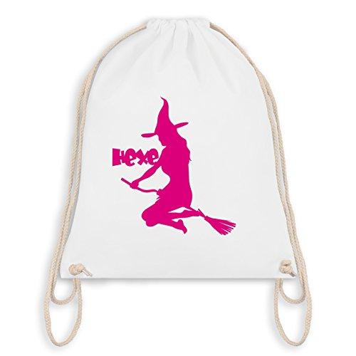Halloween - Hexe auf dem Besen - Unisize - Weiß - WM110 - Turnbeutel & Gym Bag
